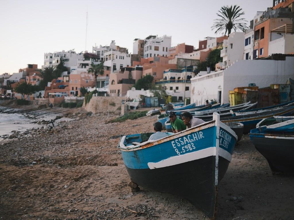Pêcheurs à Taghazout