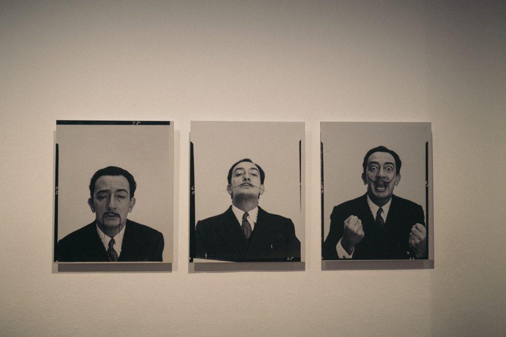 La moustache de Dali par Philippe Halsman